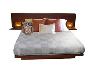 Platform Queen Bed Frame with Headboard