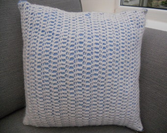 Crochet Fronted Cushion