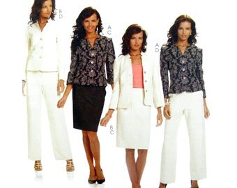 2010 McCall's 6042 Palmer Pletsch The Perfect Suit: Lined Jacket, Skirt and Pants, Uncut, Factory Folded Sewing Pattern Size 8-10-12-14