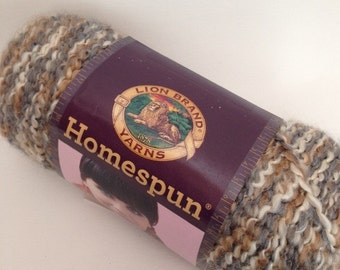 Lion Brand Homespun Yarn, Color-Shaker #301, Fiber-Acrylic and Polyester, Weight-Chunky 5