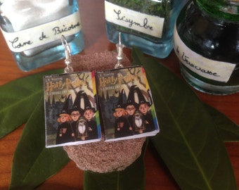 "Earrings books ""Harry Potter and the sorcerer"