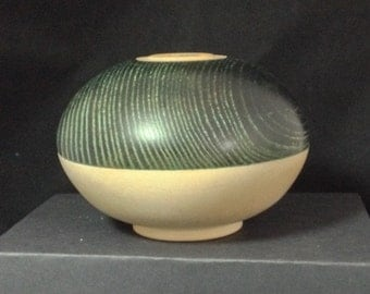 OOAK Decorative ash and sycamore wood hollow form