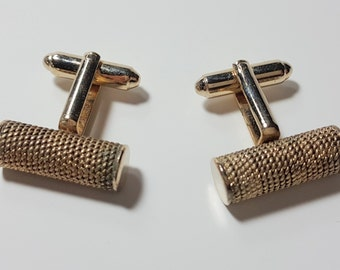 Vintage DANTE Cuff-links with Gold Tone. 1960s.