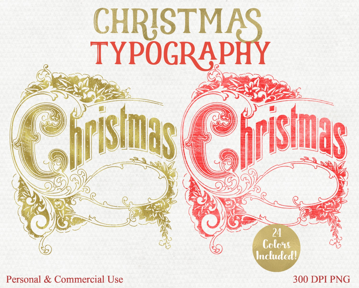 CHRISTMAS WORD ART Clipart Commercial Use Clip Art Christmas