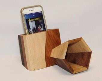 Handmade Passive Amplifier Speaker for iPhone and Smart Phone