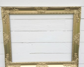 Gold Wall Frame Baroque Wedding Photo Prop Gallery Wall Frame For Sale