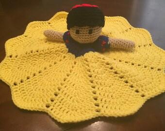 Crochet Disney Inspired Snow White Doll, Lovey, Security Blanket