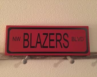 NW Blazers Blvd Sign