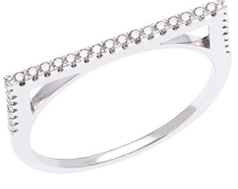Flat Band Stacking Rings 925 / Sterling Silver