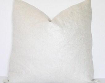 METALLIC LINEN COVER // Metallic Silver and White Pillow, White Pillow, Silver Pillow, Cushion cover, Throw Pillow, Toss Pillow