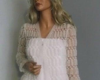 Sweterek do ślubu,moherowy sweter,