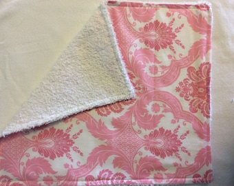 Set of (3), Infant Girl, Burp Cloth, Boutique Style, Baby Shower Gift With Tag