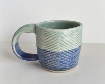 2 Tone Herringbone Mug #1