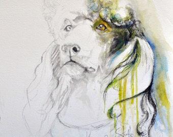 Standard Poodle Fine Art Print