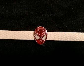 SALE w/a extra wristband  Spider-Man 8mm Slide Charm Wristband