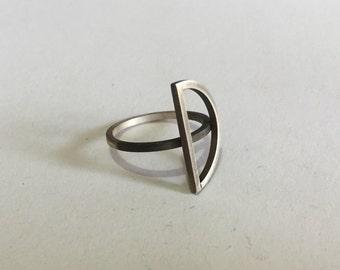 sterling silver ring, geometric, geometric ring, oxidized silver ring, Minimalist Ring, Modern Ring, Minimalist Jewelry, Geometric Jewelry