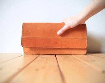 Heavy Quality Saddle Leather Clutch