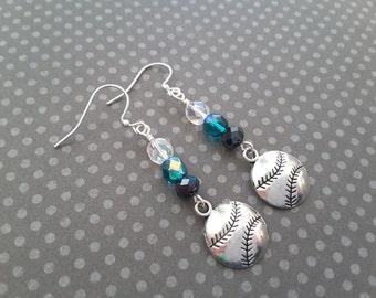 Seattle Colors Baseball Earrings