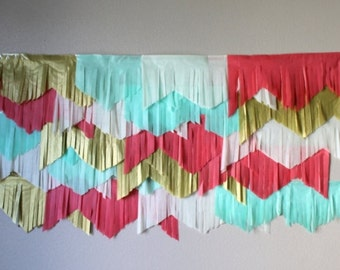 Summer Fresh garland backdrop and streamers