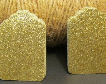 5, 10, 25, Gold Glitter Tags - Favor Tags - Price tags - Jewelry Tag - Thank You Tags - Wedding - Bridal Shower Tag - Gift Tags