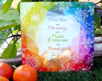 """Big 9.5""""x9.5"""" Winter Ho'oponopono Fridge Magnet Clearing everywhere it is placed"""
