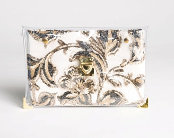 Gold Sparkling Changing Clutch
