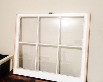 wood window pane picture frame wood window picture frame 6 pane vintage as is window pane window frame 32x28