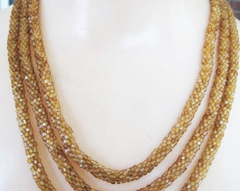 Vintage Flapper Beaded Necklace