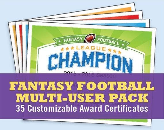 fantasy football certificates  Fantasy Football Certificates fantasy football trophy