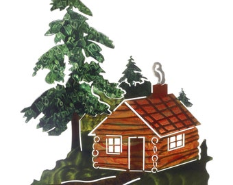 Next Innovations Cabin in The Woods Refraxions 3D Wall Art