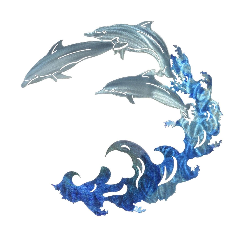 Ti Design Wall Art : Metal wall art dolphin decor