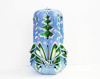 Carved candle-Christmas gift-new interior-carved candle