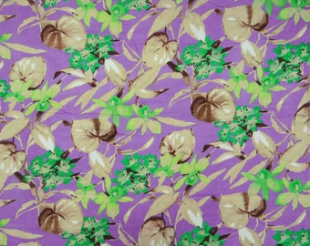 "Purple Color Pure Cotton Indian Fabric Floral Printed Pattern 45"" Wide Sewing Crafting Apparel Fabric Dress Making Material By 1 Yd ZBC5432"