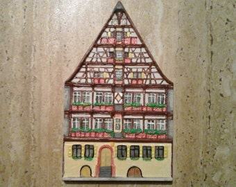European house, hand painted