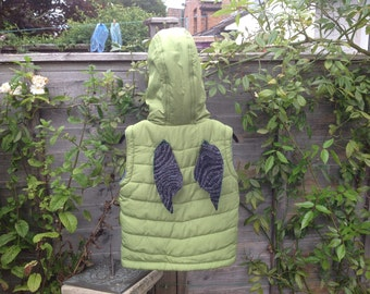 OOAK magical winged gilet (18mths - 2yrs)