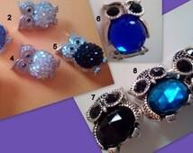 Owl Symbol of Wisdom Prosperity Status Protection Rhinestone Crystal Snap Button Crystal Fit any 18 mm Socket Bracelet Necklace Ring Decor