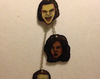 Shrink Plastic Being Human BBC Character Necklace! Vampires! Werewolves! Ghosts! Oh My!