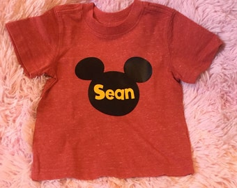Personalized Disney inspired Mickey Mouse shirt