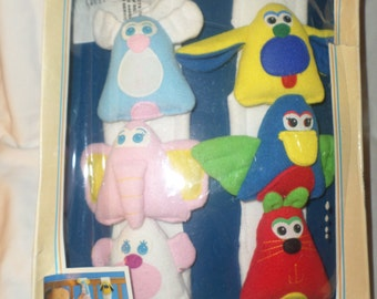 Vintage Cribanimals plush Crib toys stroller etc. NIBB  squeak crinkle rattle sounds interchangeable by Century 1989
