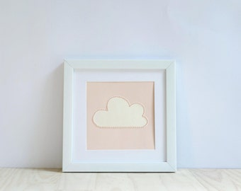 Nursery decor - cloud - embroidered - gift - baby shower - birthday