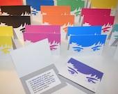Audrey Hepburn - Pop art card- Greeting Card - Stationary - Cards