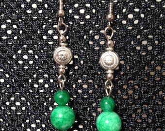Handmade Tibetan Silver ethnic earrings