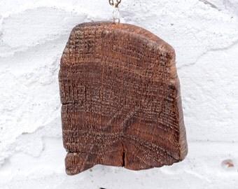Oak tree necklace, Upcycled jewelry, Nature necklace, Wood pendant, Wood necklace, Reclaimed oak tree necklace, Natural wood necklace.