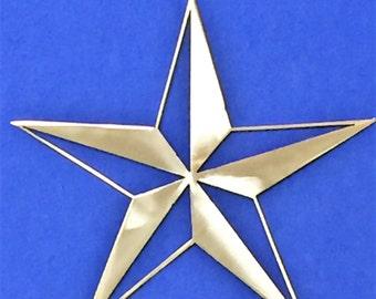 Nautical Star Metal Sign Wall Art Ocean Marine Sea Life Beach House Skilwerx