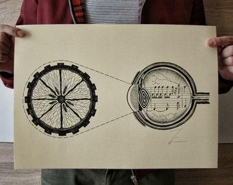 A Clockwork Orange Art Print , Large Art Print , Wall Art Prints , Kubrick Poster , Home Decor Art Prints , Abstract Art Print