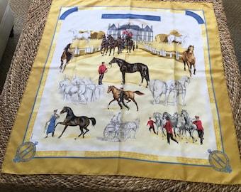 Vintage Hermes Paris Silk Scarf - Les Haras Nationaux