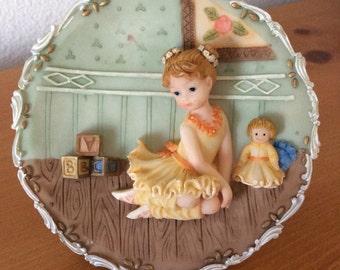 Vintage Ceramic Plate Ballerina Girl!