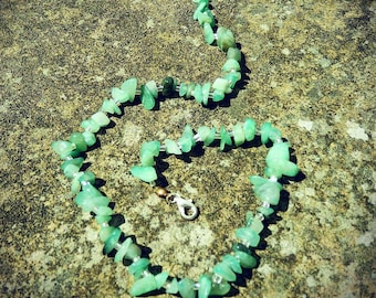 Lime green stone necklace