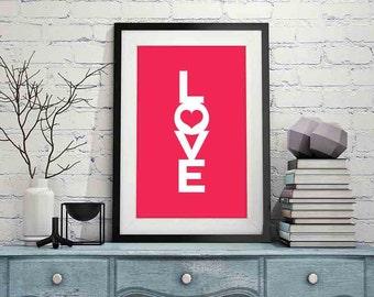 Love Inspirational Poster Digital Art Print Wall Decor 24x36