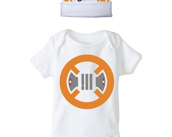 BB-8 Onesie and Beanie Design, SVG, DXF, eps Vector files for use with Cricut or Silhouette Vinyl Cutting Machines